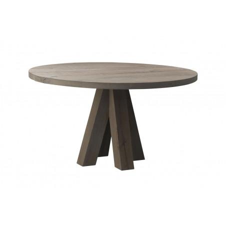 Rustiek eiken ronde tafel