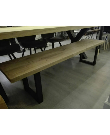 Solid oak couch for dining table