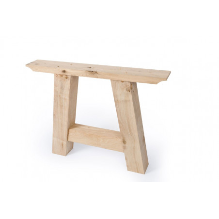 oak table Triangle frame set of 2