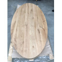 Rustic oak tabletop Elips
