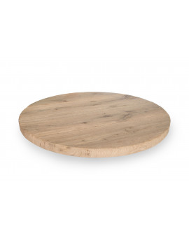 Rustic oak tabletop Round