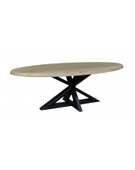 Oval oak table Dax