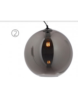 Bollo glass lamp smoke