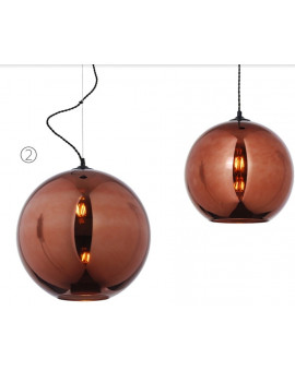 Bollo glass lamp copper