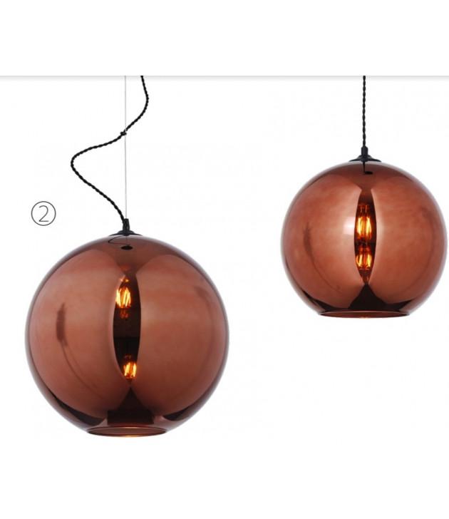 Bollo glas lamp copper