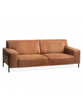 Denim bonanza couch leather