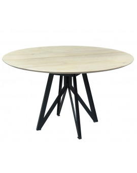 Round oak table model Phi