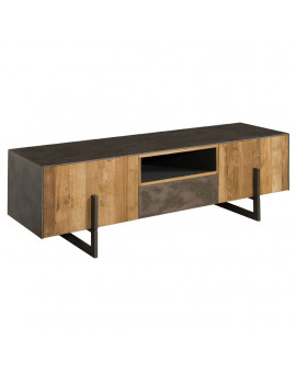 TV stand copper teak